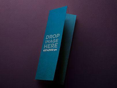 Mockup of a Folded Cardboard Brochure Over a Flat Backdrop a6236