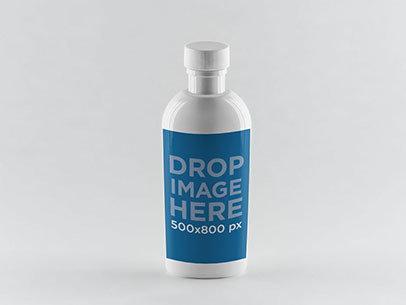 Label Mockup Featuring a Water Bottle a849