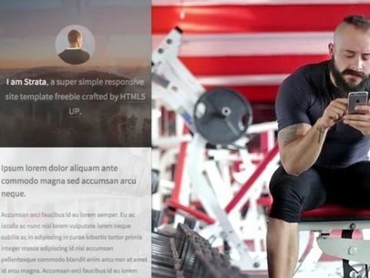Attractive Man at the Gym Working Out App Demo Video a8180