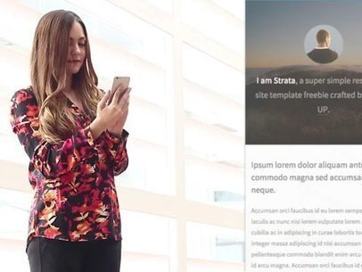 Young Businesswoman at the Office App Demo Video 8074a