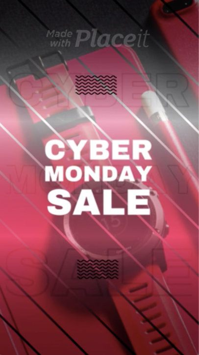 Instagram Story Video Maker for a Cyber Monday Sale 1386b 29