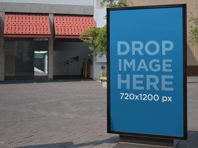 Billboard Mockup on the Street Outside a Store a10557