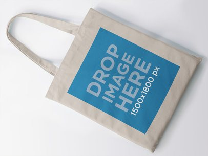 Top View of Tote Bag Mockup Over a White Background a11411