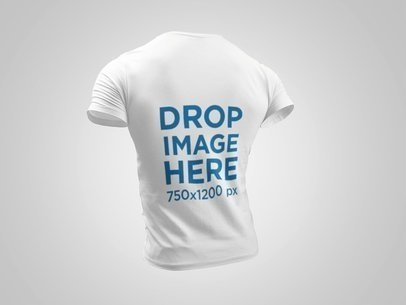 Back of a Ghosted Short Sleeve Tee Mockup Facing a Transparent Backdrop a10757b