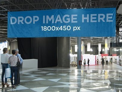 Horizontal Banner at The Entrance of a Convention Center a10790