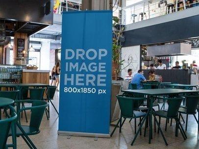 Vertical Banner Mockup at a Gourmet Market a10550