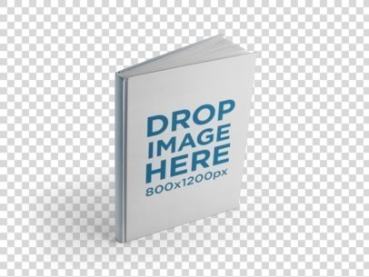 Angled Hardcover Book Mockup Over a PNG Background a9923