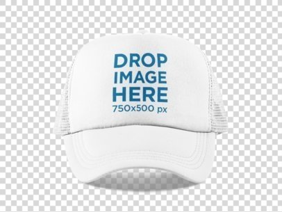 Trucker Hat Mockup Over a PNG Background 11705a