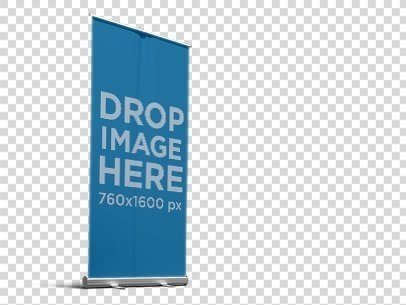 PNG Banner Mockup of a Roll-Up Banner 11756