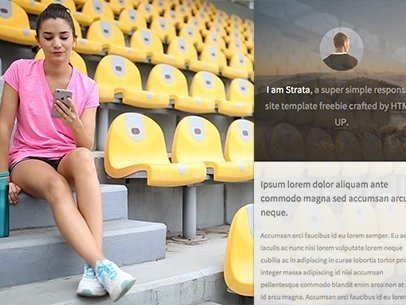 iPhone 6 App Demo Video of a Woman at a Stadium 9853a