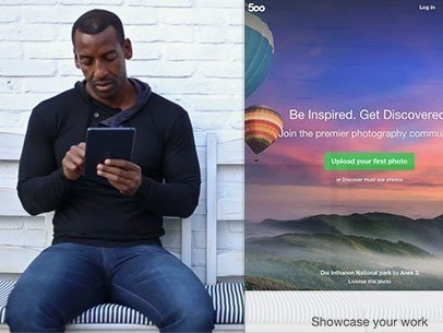 Black Man Waiting Outside a Seafood Restaurant iPad App Demo Video a9236