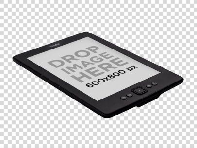 Amazon Kindle Mockup Lying Over a Surface PNG Mockup a11816
