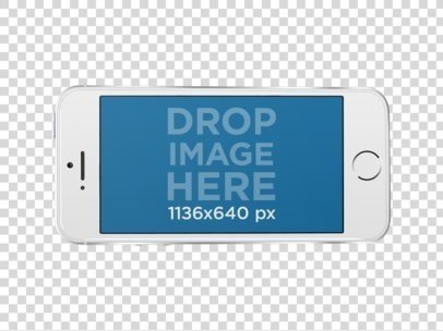 iPhone SE PNG Mockup in Landscape Position a12168