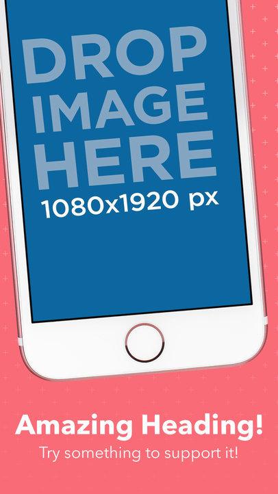 Diagonal Pink iPhone 7 iOS Screen Generator