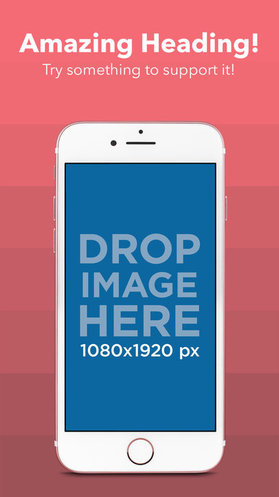 iPhone 7 On Portrait Position iOS Screenshot Generator