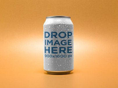 Beer Can Template Over a Solid Color Background 14678