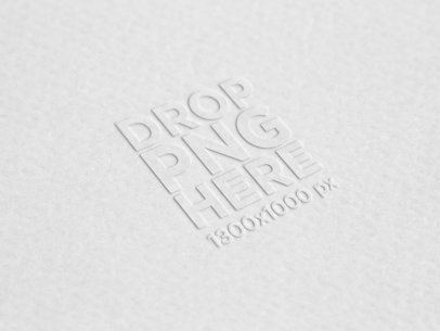 Textured Paper Logo Mockup a14881