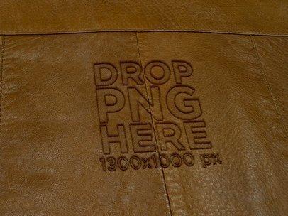 Camel Leather Jacket Texture Logo Mockup a14823