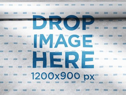 Big Folded Wrapping Paper Mockup a14958